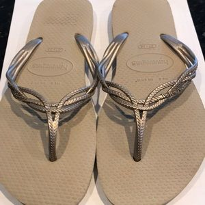 Bronze color Flip flops